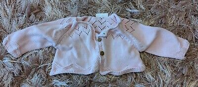 NEXT baby Girls Cardigan Pink Long Sleeve 3 Button Cute