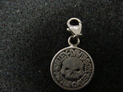 Harley Davidson*Willie G Skull*Sterling Silver Charm For Bracelet*Dealer*New