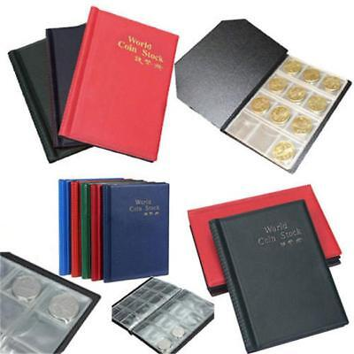 120x Collectors Coin Penny Money Storage Album Book Holder Case Collection  YW