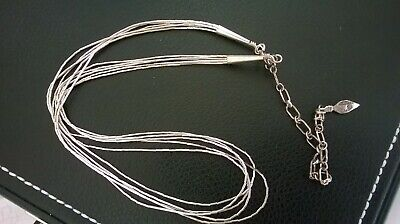 Sterling Silver 925 Hallmarked Native American  Liquid Chain Choker Necklace