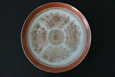 Old Plate In China Porcelain Period Xviii Antique Chinese  18Th