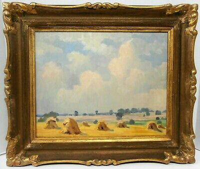 Ontario HAYSTACKS - OIL - Wakeford Gerald Dix (b. July 4, 1888-d.1970).