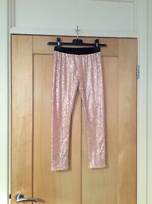 Ted Baker Girls Pink Sequin Leggings Age 8 Years