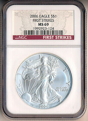 2006 American Silver Eagle Dollar ~First Strike~ **Ngc Certified Ms 69**
