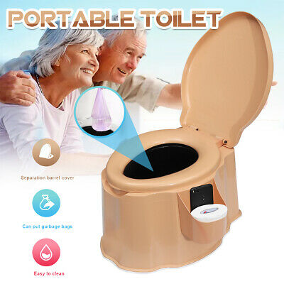 Portable Camping Toilet Flush Travel Vehicle Potty Indoor Garden Camp  Outdoor