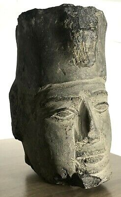 Ancient Antique Stone Carved Head Ahmose Egyptian Pharaoh Rare Art Statue Late P