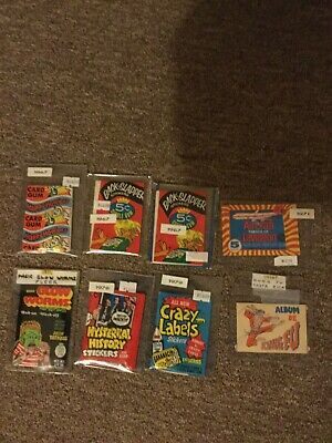 Lot Of 8 Vintage Non Sports Unopened Packs. Back Slapper, Glow Worms, Kung Fu, +