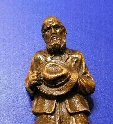 Antique Black Forest Carved Figure of an Old Man With a Hat - Master Carving