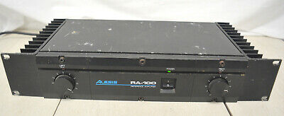 Alesis RA-100 Reference Stereo Power Amplifier AMP Tested and works