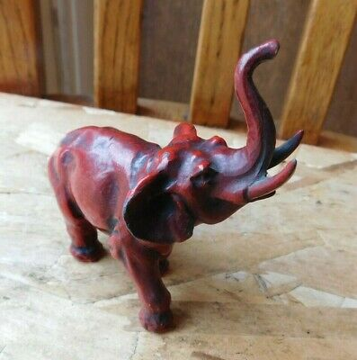 Vtg Antique Ornate Bronze Elephant Statue Figurine Lots Of Detail Must See !!
