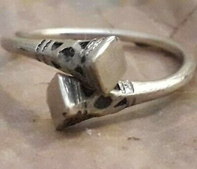 Ancient Lake Ladoga Viking Ring Artifact Very Rare Silver Old Unique Antique
