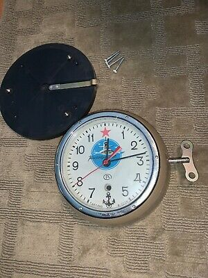 Kauahguyckue Vintage Russian Submarine USSR Wall Clock With Key Working