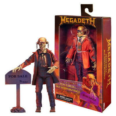 "Megadeth - Peace Sells 8"" Clothed Stylized (""For Sale"" Sign ) Action Figure"