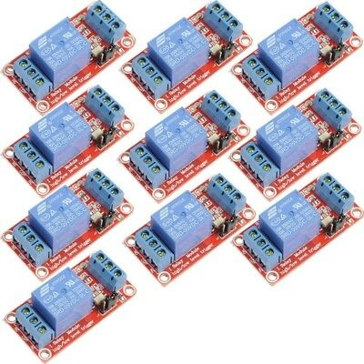 10pcs 5V 1-Channel Relay Module with Optocoupler H/L Level Triger for Arduino