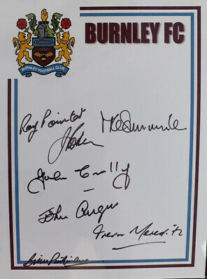 Signed 1960s X7 Burnley FC John Angus John Connelly ++ Football Autograph