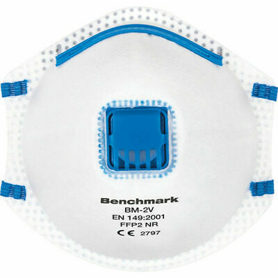 1x Disposable Vented Face Mask Meets FFP2/N95 Dust Respirator Flu Virus Sale