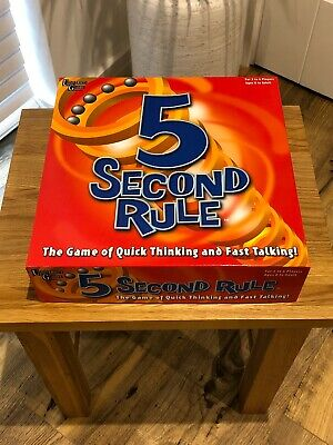 Classic 5 Second Rule Board Game. University Games. Complete. Mint. 2010.
