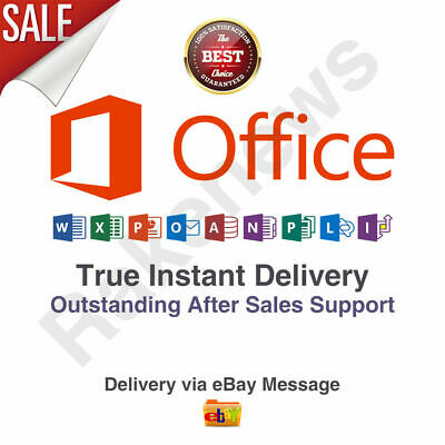 Microsoft Office 365  2019 Home Business 5 Devices Windows Mac INSTANT DELIVERY