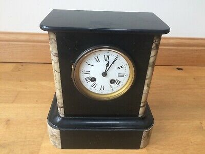 Antique French Slate and Marble Mantel Clock Chime Movement