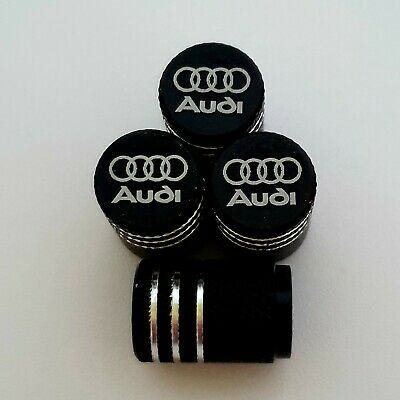 AUDI Laser Wheel Valve Dust caps all models BLK S LINE RS S3 S5 RS3 RS4 RS5 RS6