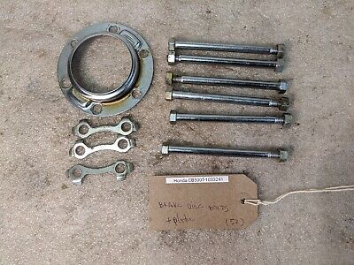 1975 Honda CB500 CB 500 T Twin DOHC front disc bolts and plate