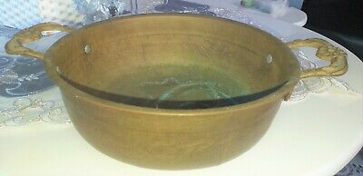 Vintage Antique Brass Harness Home Art Large Dish with No or Decorative Home Bow