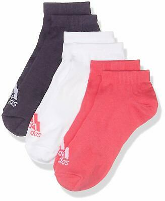 adidas Women's & Girl's No Show Ankle Socks Trainer Sneaker Pink White Purple