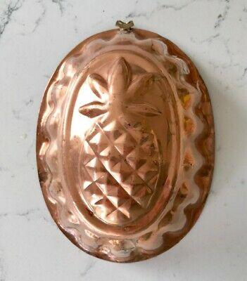 Vintage French Copper Pineapple Pie Jelly Mould Pan antique wall decoration Prop