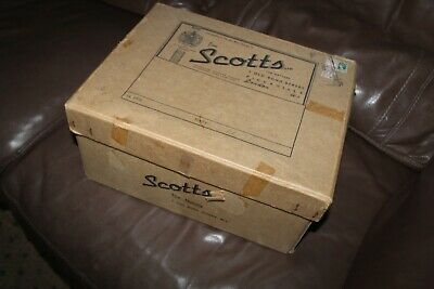 Vintage 1950'S Top Hat Box Scotts Bond Street London-Heavy Card Strong Sturdy