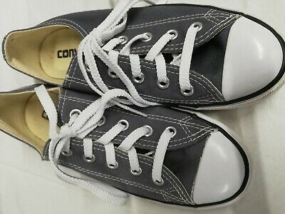 Converse All Star Trainers Girls Size 3 Grey