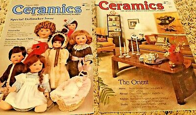 Ceramics Magazine Lot of 2 - 1983 - Doll Maker & Oriental Style Issues - Vintage