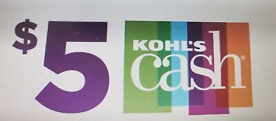 $5 Kohls Cash!!! Expires 3/02/2020! Use In store or online!!! Quick Delivery