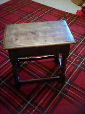 Antique (Mid 17th Century?) Oak Joint Stool