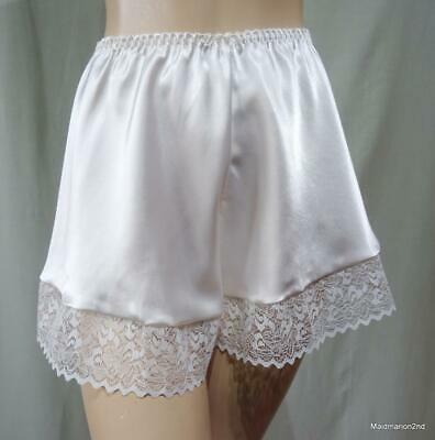 VINTAGE SILKY SOFT CREAM SATIN FRENCH KNICKERS PANTIES Med