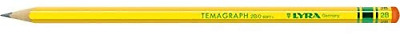Lyra Temagraph 2B Pencils 12pc (S) Graphite Pencil