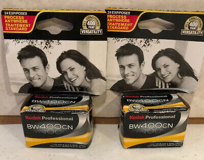 Kodak BW400CN Professional- 35MM 2 X 24exp - Black and White Film Sealed Expired