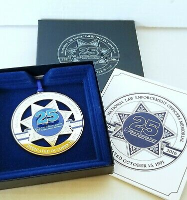 National Law Enforcement Officers Memorial 2016 Christmas Ornament in Box