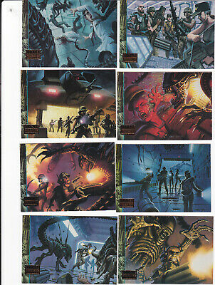 1995 ALIENS PREDATOR UNIVERSE Operation: Aliens Subset Insert Complete Set!