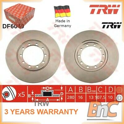 2x REAR BRAKE DISC SET FORD TRANSIT PLATFORM/CHASSIS TRANSIT BUS TRANSIT BOX TRW