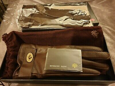 Mulberry Bayswater Ladies Gloves - Valentines Gift? - rrrp £225  Size S - New