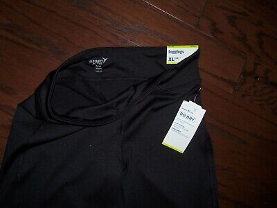 Nwt Old Navy Black Active Go Dry Mid Rise Leggings: Size 14