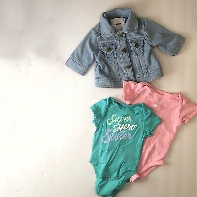 Old Navy 0-3M Lot - Bodysuits and Jean Jacket