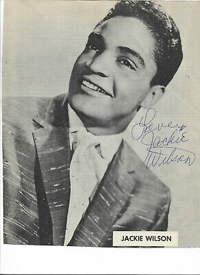 Jackie Wilson - Vintage In Person Hand Signed Program Photograph..rare...