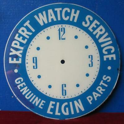Vintage Pam Clock Advertising Dial ELGIN EXPERT WATCH REPAIR