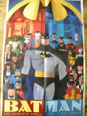 """DC 2015 BATMAN THE ANIMATED SERIES New Adventures folded poster 24"""" X 36"""""""