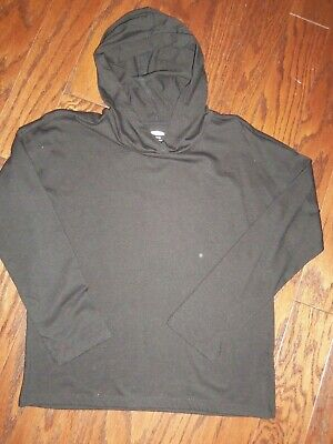 Old Navy Soft Black Pull Over Girls Hoodie Top: Size: L (10/12)