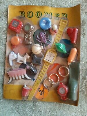 Vintage Gumball/Vending Boomer 5 Cent Scary/Flicker Items Display Card