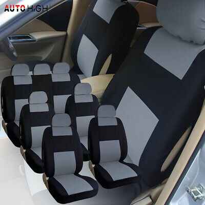 3 Row 7 Seat Universal Auto Seat Front Rear Bench Row Full Set Covers for SUV