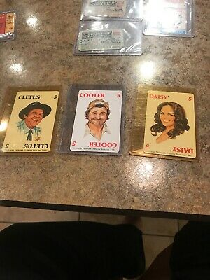 1981 Dukes Of Hazzard Cards, Daisy , Cooter And Clwtus