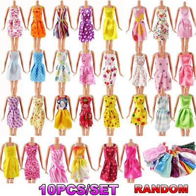 10Pcs Different Style Dresses Clothes Set for Barbie Doll Casual Party Decor/*